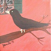 Jeannie Atwater Painting Originals - Quoth the Raven Evermore by Jeannie Atwater Jordan Allen