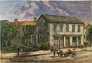 1876 Prints - R. B. Hayes: Birthplace Print by Granger