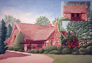 Chicago Landmark Paintings - R. Harold Zook Home and Studio by James Pinto