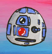 Character Paintings - R2-d2 by Jera Sky