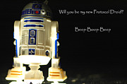 Action Figure Prints - R2D2 card  Print by Micah May