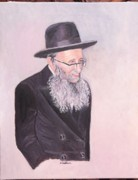 Rav Paintings - Rabbi Kamenetsky  by Carla Goodstein