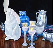 Jars Paintings - Rabbit Ears by Ally Benbrook