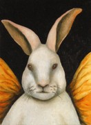 Playboy Framed Prints - Rabbit Fairy Framed Print by Leah Saulnier The Painting Maniac