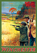 Ammunition Posters - Rabbit Hunting Poster by George Brehm