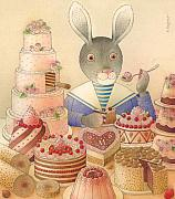 Food And Beverage Drawings Originals - Rabbit Marcus the Great 01 by Kestutis Kasparavicius