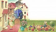 Rabbit Drawings - Rabbit Marcus the Great 17 by Kestutis Kasparavicius