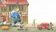 Street Drawings Framed Prints - Rabbit Marcus the Great 19 Framed Print by Kestutis Kasparavicius