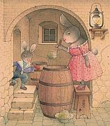 Cellar Drawings Prints - Rabbit Marcus the Great 20 Print by Kestutis Kasparavicius