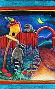Raccoon Paintings - Raccoon Trouble by Harriet Peck Taylor