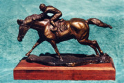 Jockey Sculptures - Race for Life by Nancy Degan