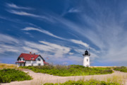 New England Lighthouse Framed Prints - Race point Light Framed Print by Bill  Wakeley