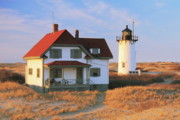 Keepers House Photos - Race Point Lighthouse and Light Keepers House by Roupen  Baker