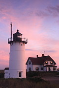 Cape Cod Metal Prints - Race Point Lighthouse Cape Cod Evening Light Metal Print by John Burk