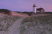 Race Point Photos - Race Point Lighthouse Twilight Path by John Burk