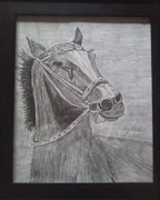 Race Drawings Originals - Race Ready by Gary Miller