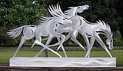 Equine Sculpture Sculptures - Race the Wind by Mindy Z Colton