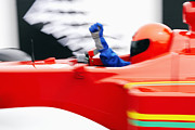 Formula Car Photos - Racecar Driver In Racecar by Fuse