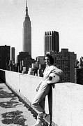 New York City Rooftop Photos - Racecar Driver Janet Guthrie, The First by Everett