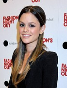 Hair Parted In The Middle Framed Prints - Rachel Bilson At A Public Appearance Framed Print by Everett