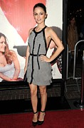 Ruffled Dress Framed Prints - Rachel Bilson Wearing A Dress Framed Print by Everett