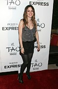 James Atoa Framed Prints - Rachel Bilson Wearing An Express Romper Framed Print by Everett