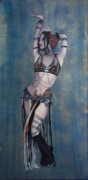 Tattoo Framed Prints - Rachel Brice - Belly Dancer Framed Print by Kelly Jade King