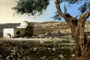 Rachel Tomb In Bethlehem Print by Munir Alawi
