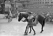 Town Square Prints - Racing At Siena Print by Bert Hardy