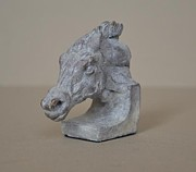Animal Sculpture Originals - Racing Horse by Edward  Waites