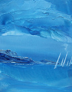 Wind Surfing Art Paintings - Racing Sailboats by Danita Cole