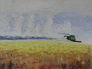 Combine Paintings - Racing the Storm by Don Hutchison