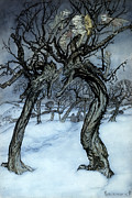 Whisper Framed Prints - Rackham: Whisper Trees Framed Print by Granger