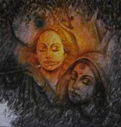Devotional Art Posters - Radha Krishna Series Poster by Prince Chand