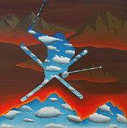 Ski Paintings - Radiance by Mark Lopez