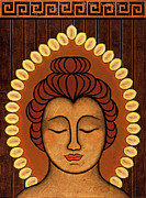 Icon Mixed Media Metal Prints - Radiant Peace Metal Print by Gloria Rothrock