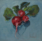 Gourmet Art Paintings - Radiant Radishes by Barbara Andolsek