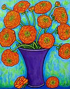 Ranunculus Paintings - Radiant Ranunculus by Lisa  Lorenz
