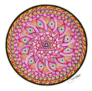 Geometrical Design Pastels Prints - Radiant Sun Print by Marcia Lupo