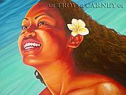 Samoan Paintings - Radiant by Troy Carney