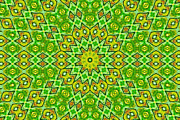 Susan Leggett Digital Art Prints - Radiating Patterns Print by Susan Leggett