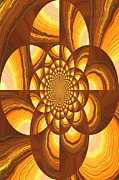 Earth Tones Metal Prints - Radiating Warmth and Light Metal Print by Carol Groenen