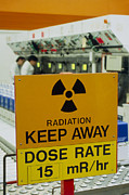 Assembly Framed Prints - Radiation Hazard Sign At Amersham International Framed Print by David Parker