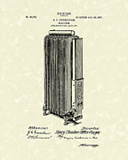 Radiator Drawings Posters - Radiator 1907 Patent Art Poster by Prior Art Design