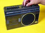 Cassette Tape Posters - Radio Cassette Player Poster by Andrew Lambert Photography