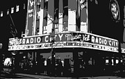 Radio Digital Art - Radio City BW3 by Scott Kelley