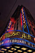 Signage Posters - Radio City Music Hall Poster by Benjamin Matthijs