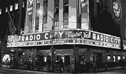 Hall Digital Art Prints - Radio City Music Hall BW6 Print by Scott Kelley