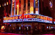 Hall Digital Art Prints - Radio City Music Hall Color 16 Print by Scott Kelley