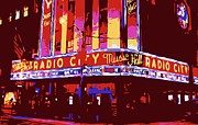 Hall Digital Art Prints - Radio City Music Hall Color 6 Print by Scott Kelley